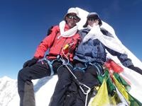 Soren and Warren enjoying success on the summit of Cholatse